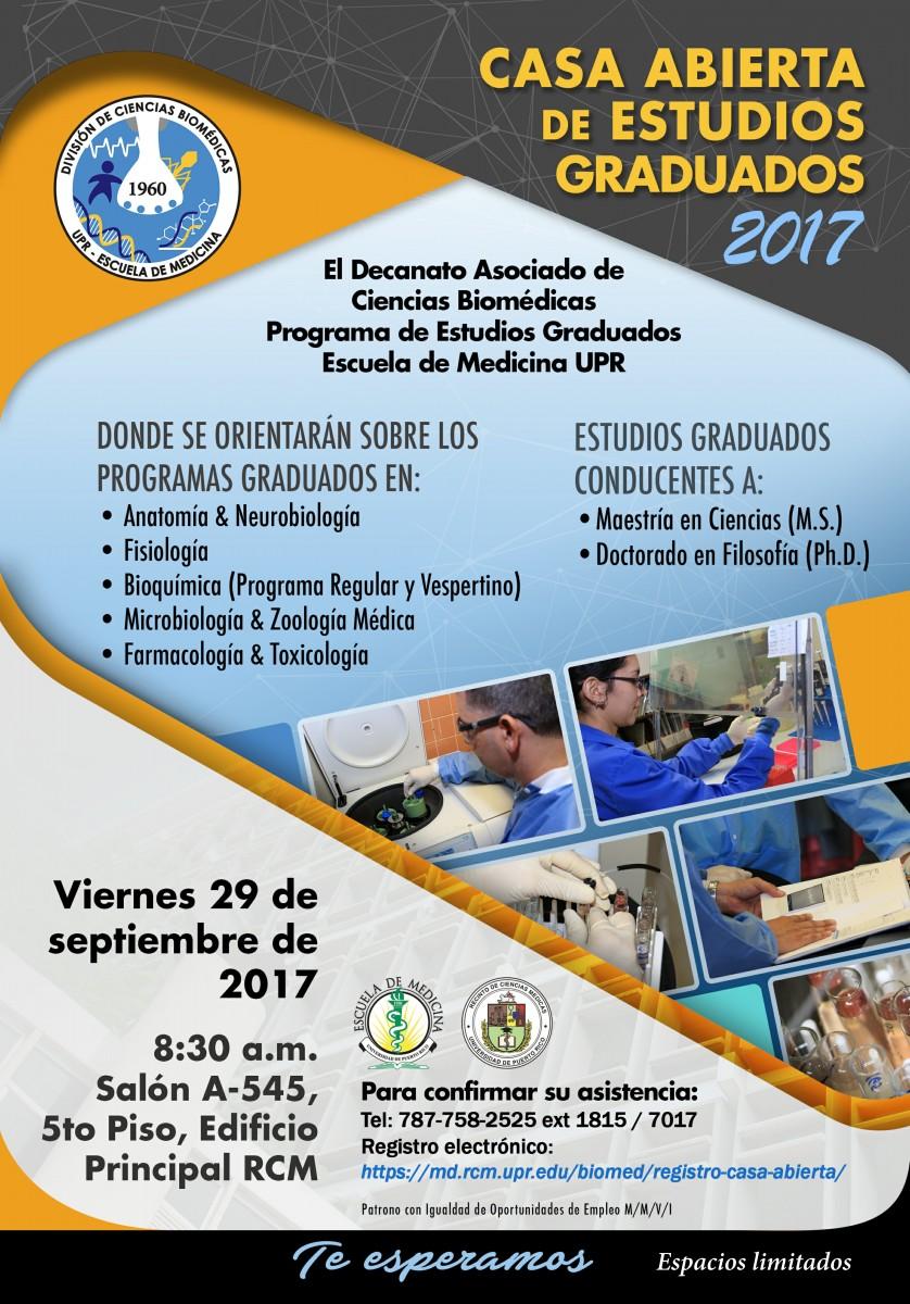 Casa Abierta de Estudios Graduados RCM 2017 San Juan, PR | Ciencia ...