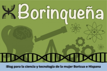 "Logo for ""Borinqueña"", a blog for hispanic women in science"