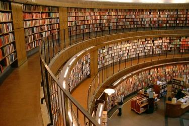 Foto de una biblioteca