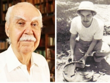 Dr. Ricardo Alegría old and as a young archeologist