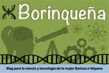 """Logo de """"Borinqueña"""", blog de mujeres hispanas en las ciencias"""